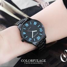 浮雕刻度簡約腕錶