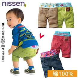 日本空運!低腰針織牛仔風短褲2條組