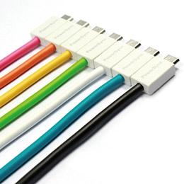 Micro手機充電傳輸夏彩超軟線