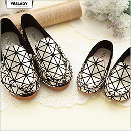 幾何閃亮金格紋baby親子鞋