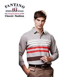 男性線條舒適棉質POLO衫