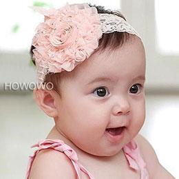 寶寶雪紡花朵髮帶