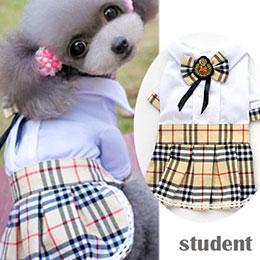 學院風蘇格蘭紋連身裙