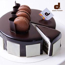 黑白旋律芝麻蛋糕6吋★送客製貼心小卡