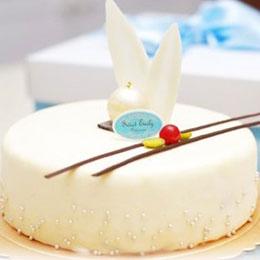 白色艾菲爾蛋糕6吋★送造型馬卡龍