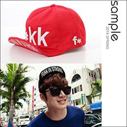 韓國製,立體刺繡F*KK鴨舌帽