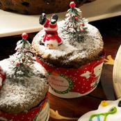 耶誕裝飾巧克力戚風蛋糕