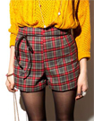 蘇格蘭格紋棉布短靴褲