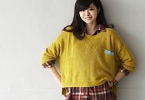 艷色亮彩隱藏口袋針織衫