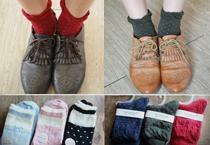 蝴蝶結&點點俏皮短襪