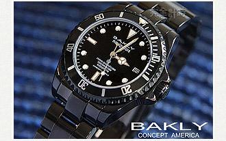 BAKLY 美國意念 黑鯨系列軍錶