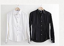 韓版格紋滾邊長袖襯衫