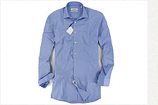 CK條紋藍色長袖襯衫