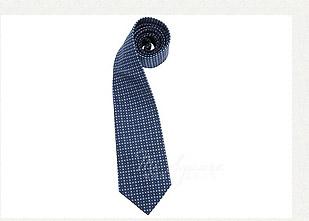 TRUSSARDI 方格圖紋領帶(深藍色)