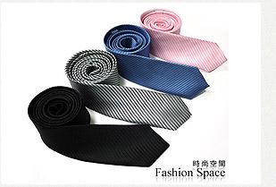 極簡風格窄版斜紋領帶(共四色)