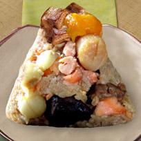『風海鮮』極品鱒鮭干貝蜜蓮子海陸粽