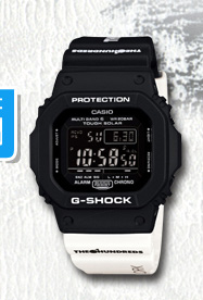 THE HUNDREDS x CASIO G-SHOCK黑白太陽能錶 聯名限量款