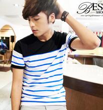 韓系海洋風配色橫條紋T恤