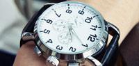 韓國設計4公分大錶面素面三眼錶