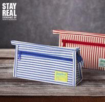 STAYREAL 鄉村條紋布面筆袋
