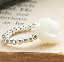 茶花情語 串珠純銀戒指