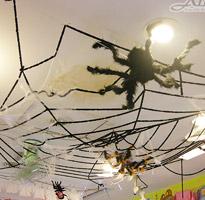 萬聖節裝飾9尺絨毛蜘蛛網