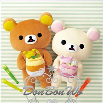 懶熊懶妹娃娃漢堡野餐玩偶