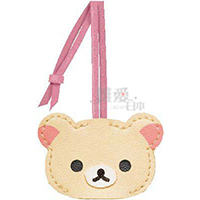 SAN-X 懶熊造型皮製鑰匙套