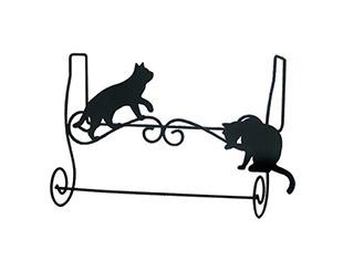 貓奴們不能錯過!乖巧黑貓身形毛巾架