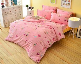 超保暖搖粒絨-愛戀巴黎-加大三件式床包組