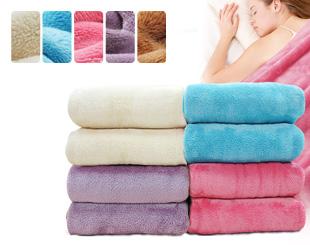 超細纖維羊羔絨保暖隨意毯