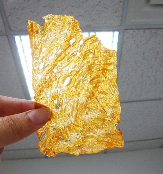 透光度百分百的超薄肉紙。