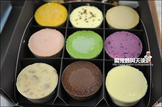 mini繽紛九宮格起司蛋糕,五顏六色的小起司蛋糕很有視覺效果!當伴手禮的話,朋友應該會覺得很新奇