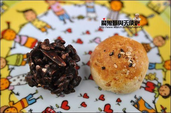 鳥先生和小姑都給高評價的手作餅乾:巧克美人及杏仁巧酥。