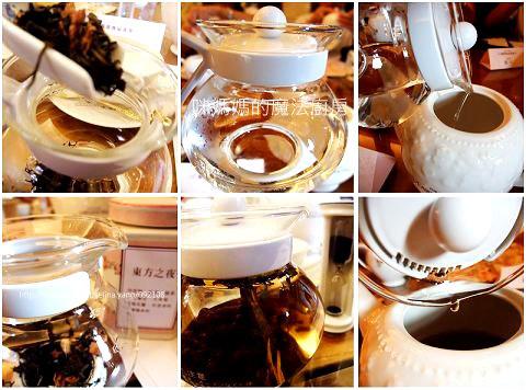 沖入熱水後, 立即套上茶壺保溫罩。溫度夠, 茶葉自然就會浮上來, 即所謂的跳躍運動, 若往下沉, 即水溫不夠。溫壺很重要, 茶葉的香氣才會出來。