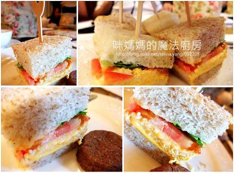 三明治 白土司和全麥兩種。沙拉蛋吃起來好清爽
