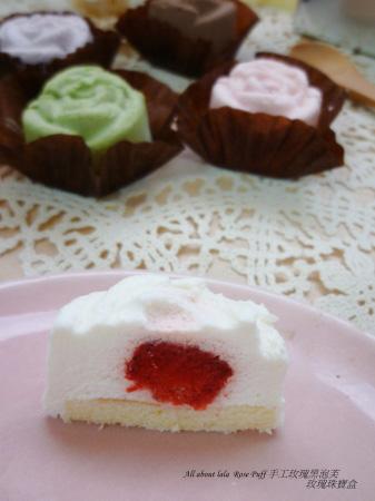 蘿絲帕夫-玫瑰珠寶盒 精緻的玫瑰花慕斯蛋糕