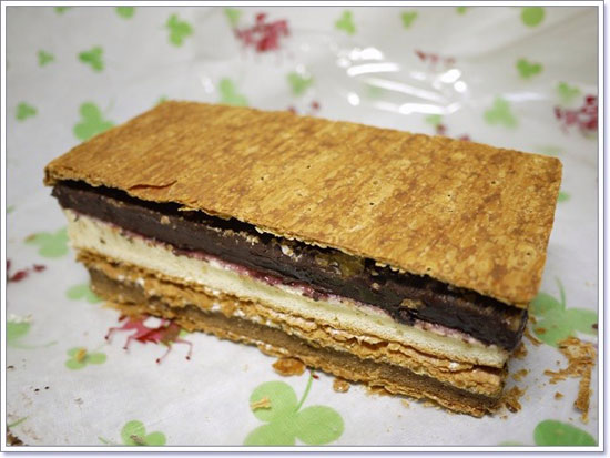 部落客,拿破崙,蛋糕,千層,巧克力,派皮