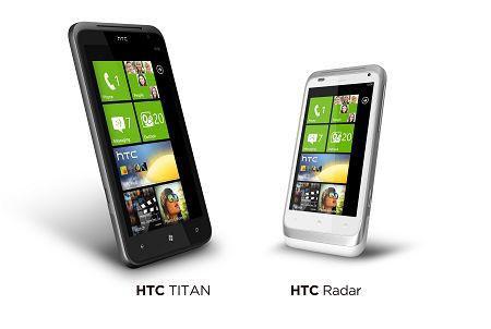 HTC預計推出的Titan跟Radar機