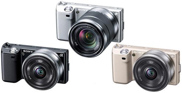 Sony Nex-5系列原本只有黑、銀兩色,去年底再度推出金色