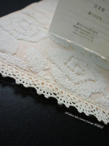 玫瑰緹花系列 日本有機棉小手巾