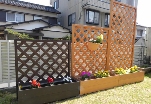 圍籬,屏風,盆栽