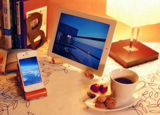 原木,設計,Mu life,手機座,平板電腦,置物盤
