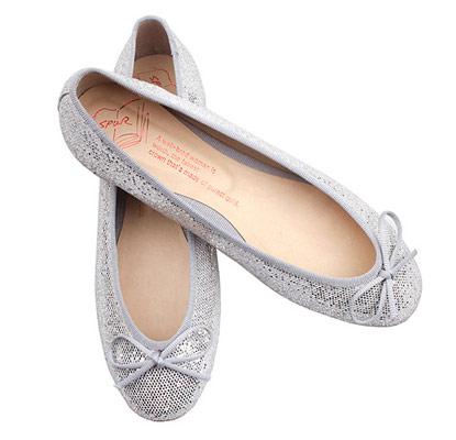 韓國SPUR平底娃娃鞋-銀色亮片