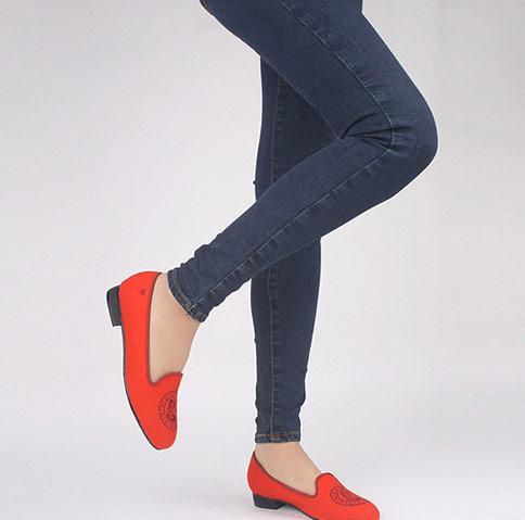 韓國SPUR女鞋 -橘色樂福鞋