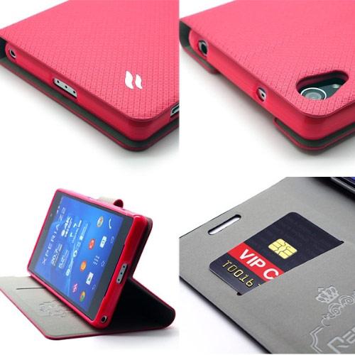 ▲Redberry SONY Xperia Z2 (D6503) 甜漾簡約 立架式側掀皮套