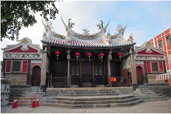▲剛修葺完工的澎湖天后宮,是全台歷史最優久的媽祖廟。(記者田欣雲攝影)