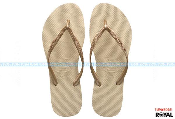 ▲巴西 havaianas SLIM 金色 人字拖鞋 女款
