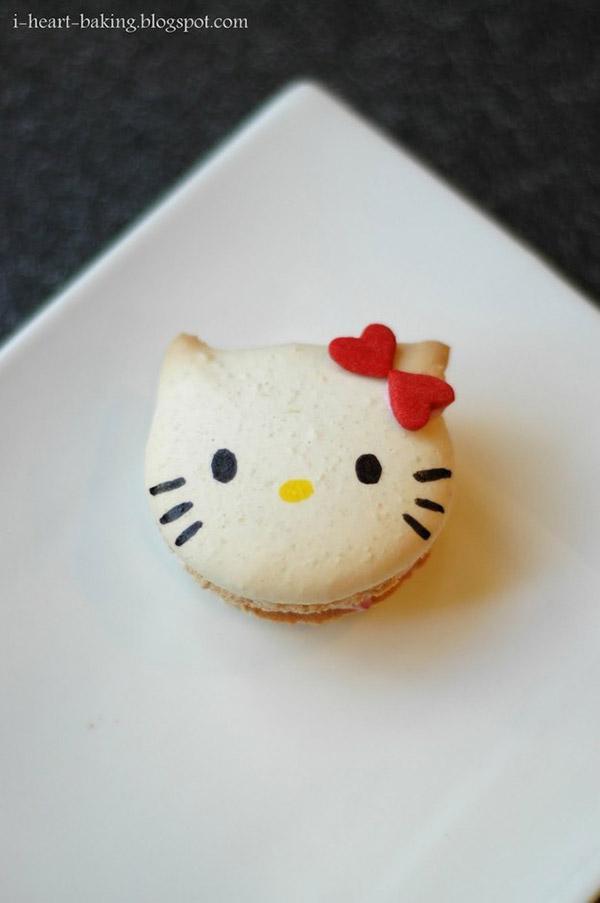 可愛的Hello Kitty馬卡龍誰捨得吃啊~