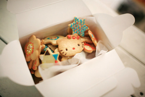 Hello Kitty餅乾組合,拿來開Kitty粉絲同樂會超嗨的